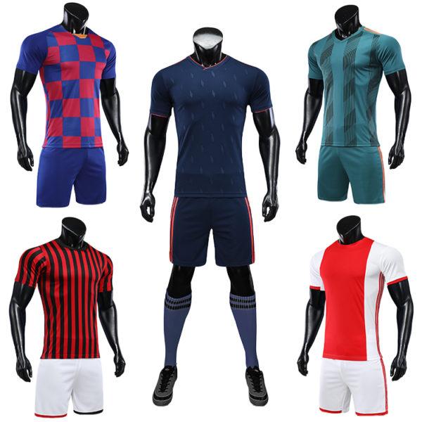 2019 2020 camisas futebol blank soccer jerseys black orange jersey 1