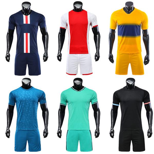 2019 2020 camisas futebol blank soccer jerseys black orange jersey 3