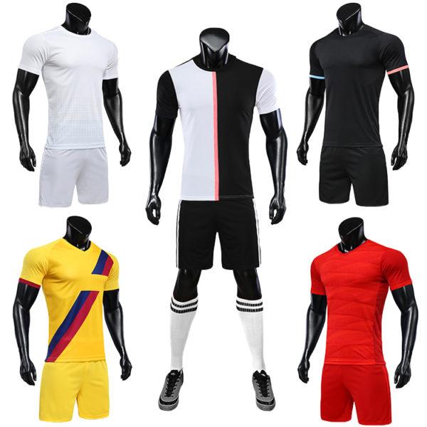 2019 2020 camisas futebol blank soccer jerseys black orange jersey 4