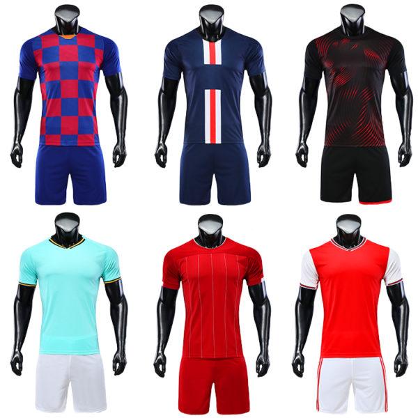 2019 2020 camisas futebol blank soccer jerseys black orange jersey 5