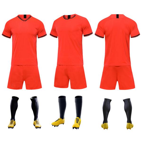 2019 2020 cheap soccer uniform set campera futbol black and red jersey 3