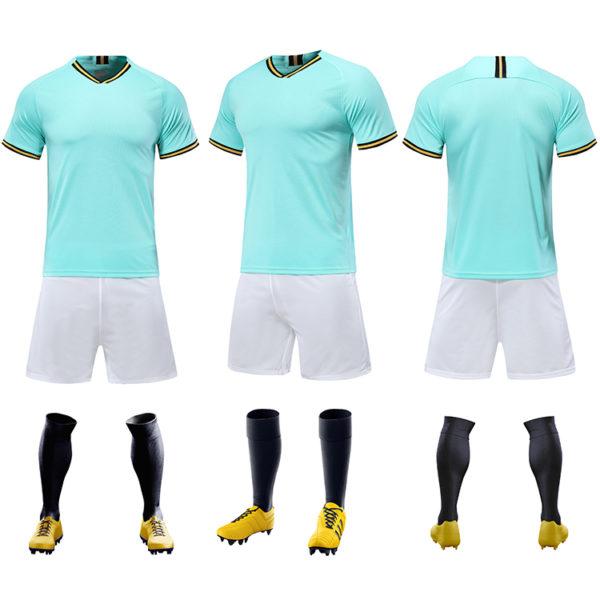 2019 2020 cheap soccer uniform set campera futbol black and red jersey 5
