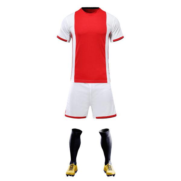 2019 2020 cheap soccer uniform set campera futbol black and red jersey 6
