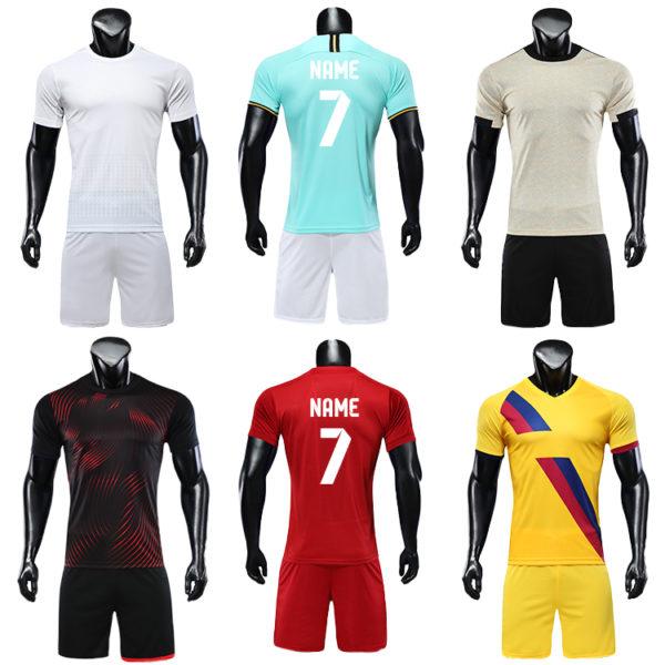 2019 2020 custom printed soccer jersey cheap set plain jerseys football 1