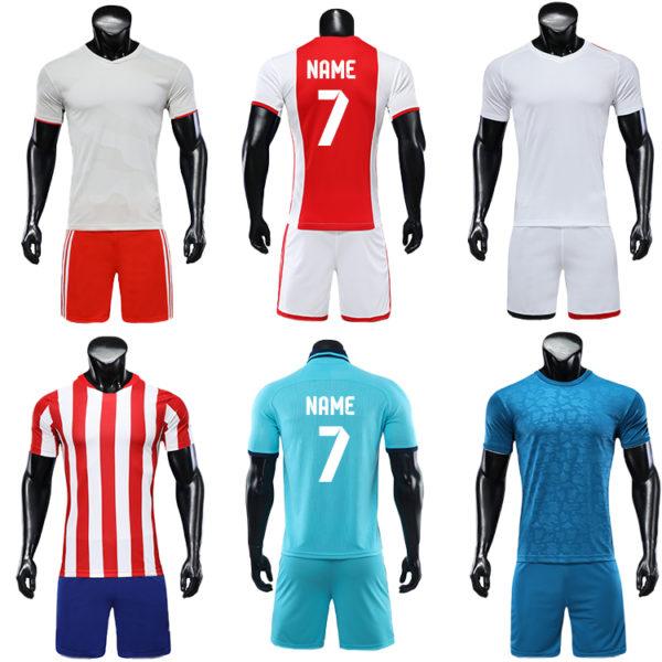 2019 2020 custom printed soccer jersey cheap set plain jerseys football 3