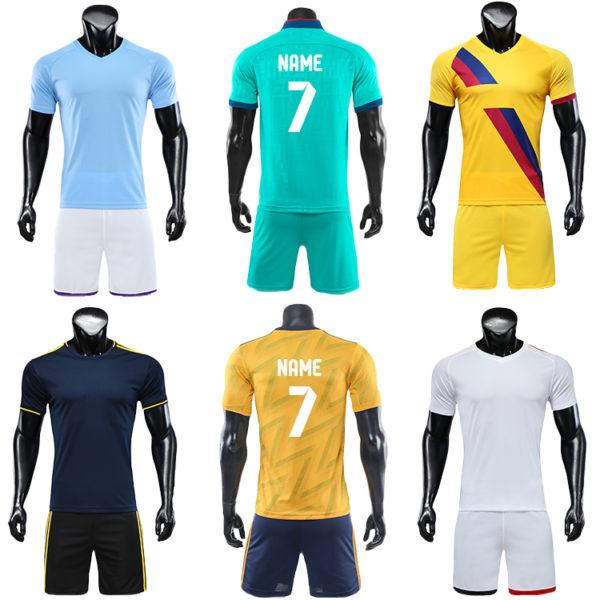 2019 2020 custom printed soccer jersey cheap set plain jerseys football 4