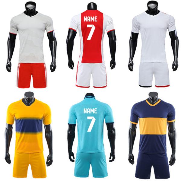 2019 2020 custom printed soccer jersey cheap set plain jerseys football 5