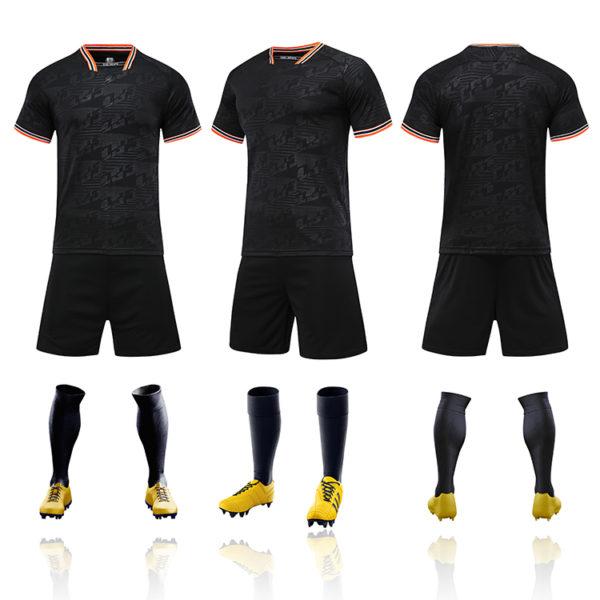 2019 2020 football jersey in black custom men thai quality cheap soccer 6