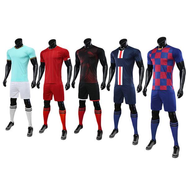 2019 2020 football soccer jersey wear set pads 6
