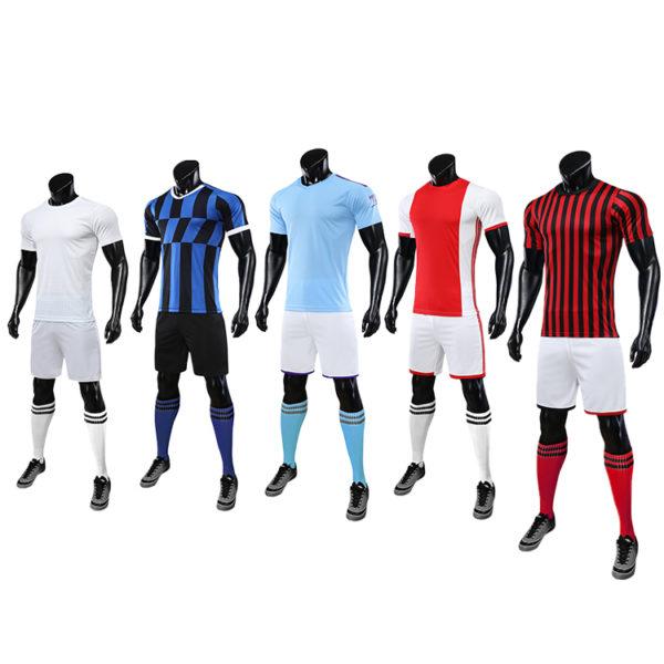 2019 2020 long sleeve football jersey black blank latest soccer design 1