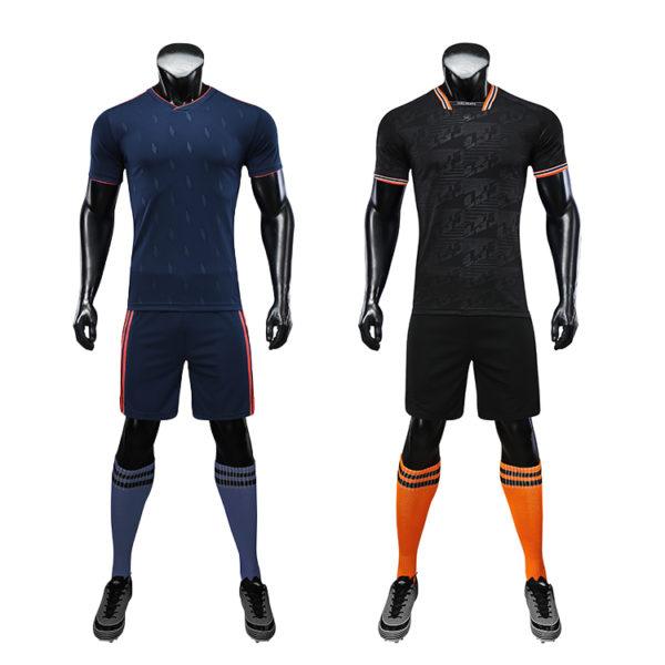 2019 2020 long sleeve football jersey black blank latest soccer design 2
