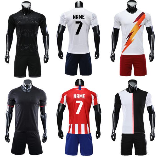 2019 2020 long sleeve football jersey black blank latest soccer design 3
