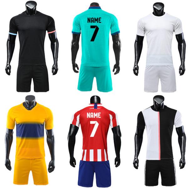 2019 2020 long sleeve football jersey black blank latest soccer design 4