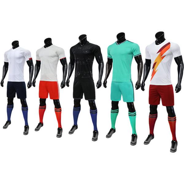 2019 2020 maillot foot long sleeve soccer uniforms kids custom fabric uniform 1
