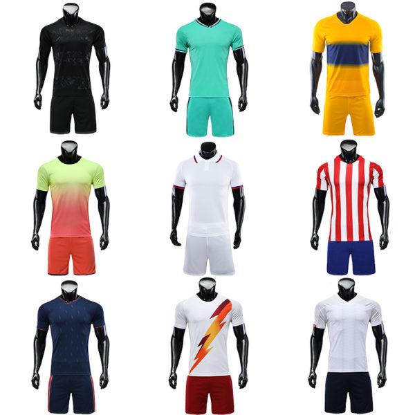 2019 2020 maillot foot long sleeve soccer uniforms kids custom fabric uniform 2
