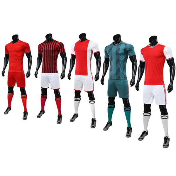2019 2020 maillot foot long sleeve soccer uniforms kids custom fabric uniform 3