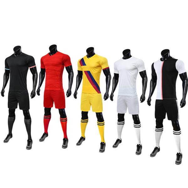 2019 2020 maillot foot long sleeve soccer uniforms kids custom fabric uniform 5
