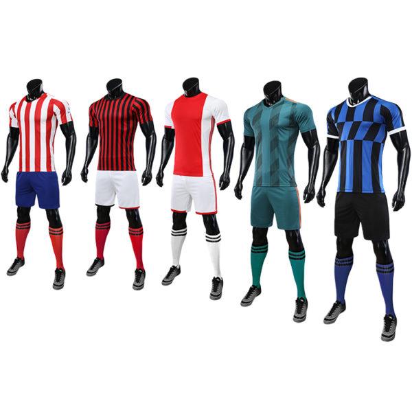 2019 2020 red white soccer jersey orange uniforms 1