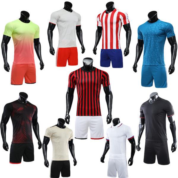 2019 2020 red white soccer jersey orange uniforms 4