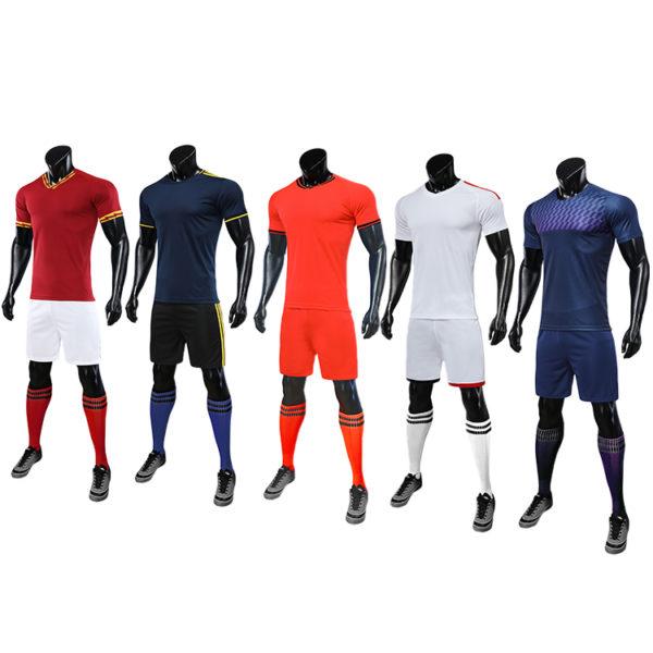 2019 2020 red white soccer jersey orange uniforms 5