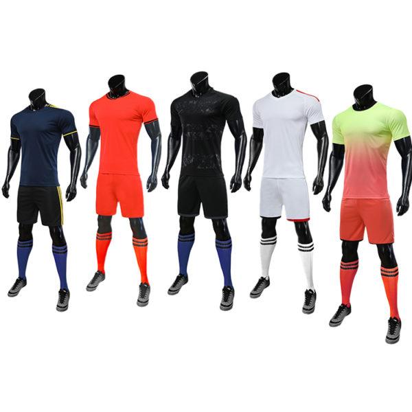 2019 2020 red white soccer jersey orange uniforms 6