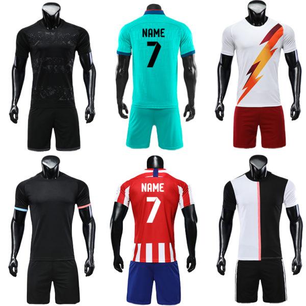 2019 2020 soccer ball short sleeve jersey 1