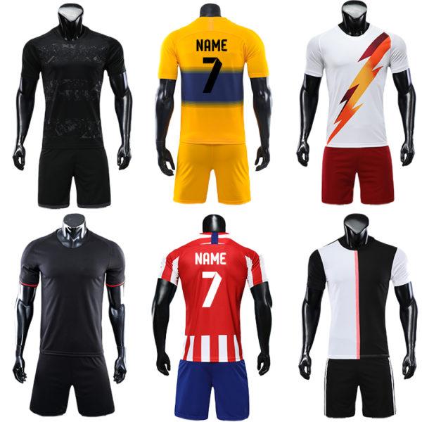 2019 2020 soccer ball short sleeve jersey 2