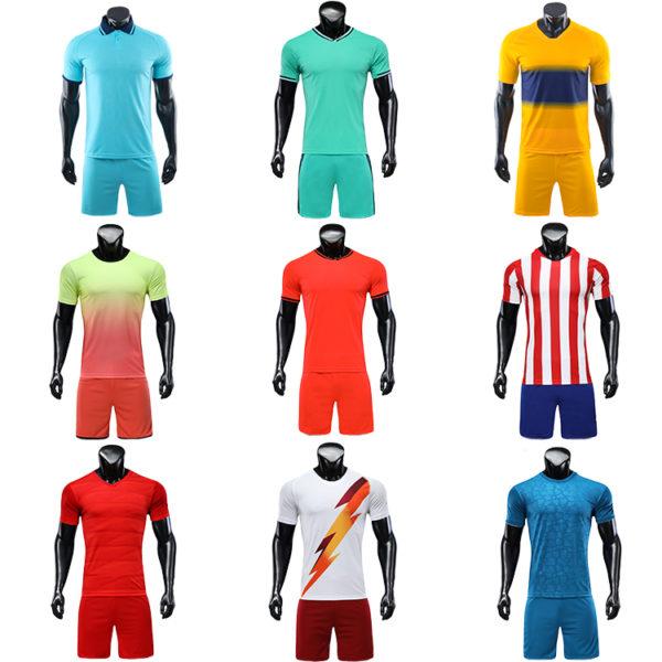 2019 2020 soccer jersey kids blue yellow retro football shirts 3