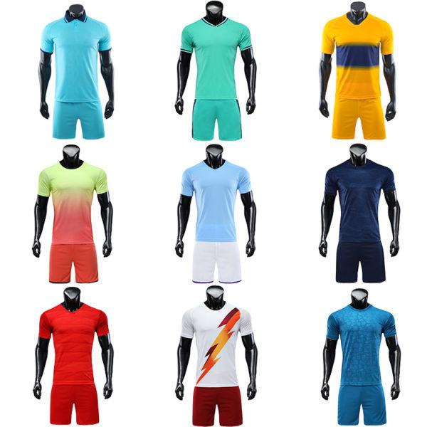 2019 2020 soccer jersey kids blue yellow retro football shirts 4