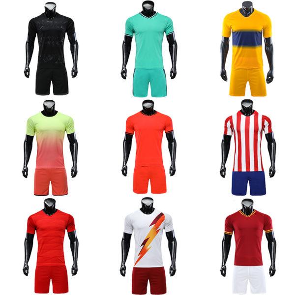 2019 2020 soccer jersey kids blue yellow retro football shirts 5