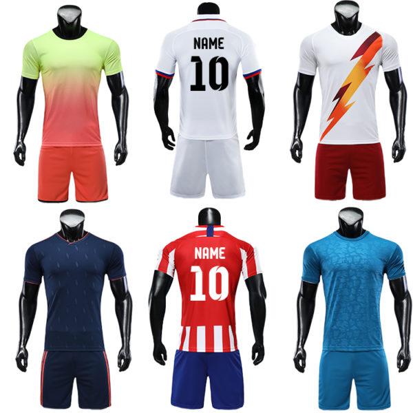 2019 2020 soccer uniform custom training equipment set team wear 2