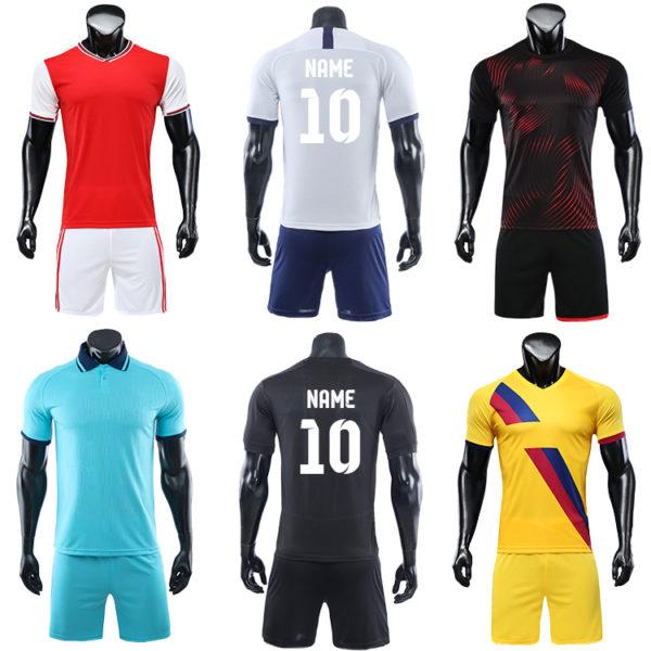 2019 2020 soccer uniform custom training equipment set team wear 5