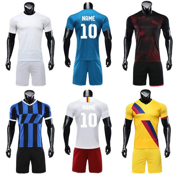 2019 2020 soccer uniform custom training equipment set team wear 6