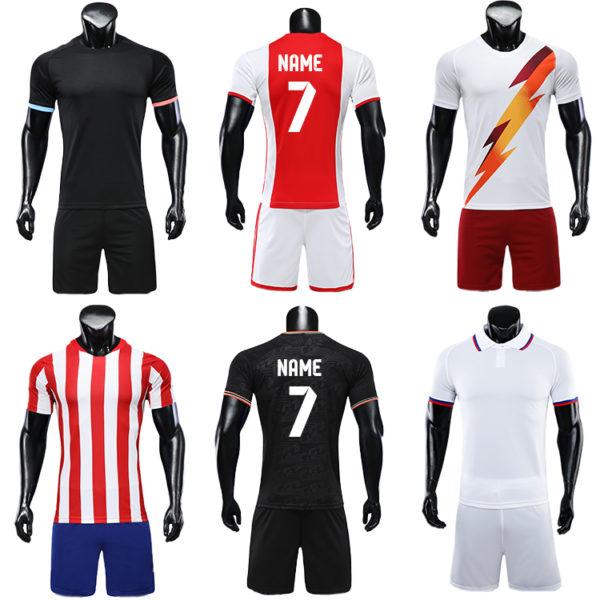 2019 2020 wholesale blank soccer jersey tshirt men football team jerseys cheap 3