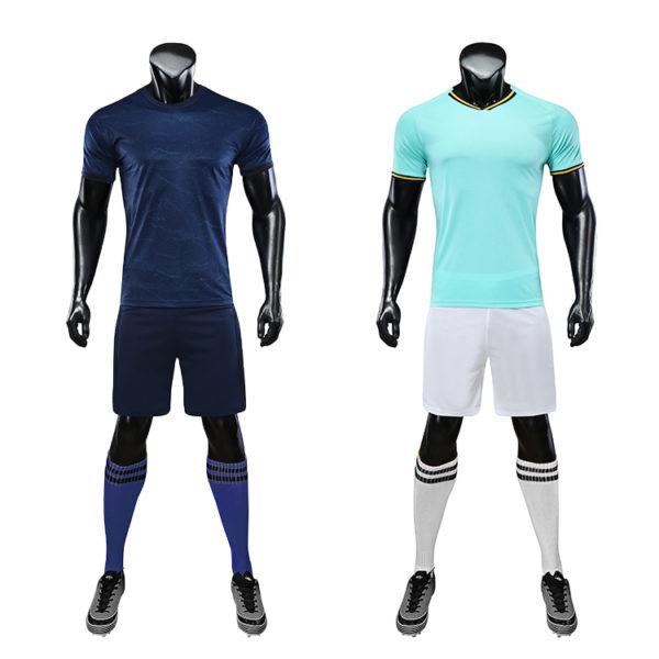 Red black soccer wear with sublimation custom blank sports jersey new model football shirt uniform set2