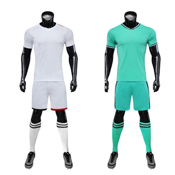 Red black soccer wear with sublimation custom blank sports jersey new model football shirt uniform set5