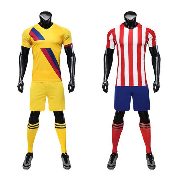 Red black soccer wear with sublimation custom blank sports jersey new model football shirt uniform set7
